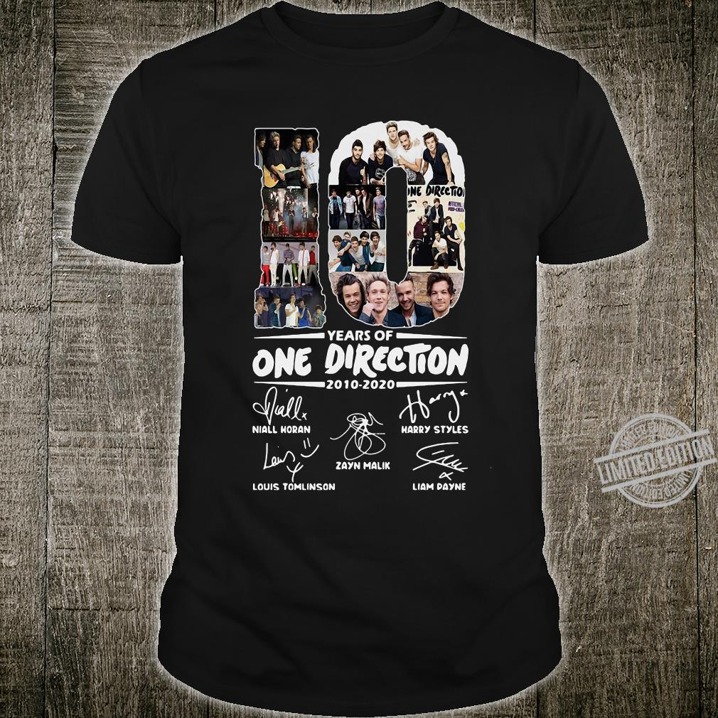 10 Years Of One Direction 2010-2020 Niall Horan Louis Tomlinson Harry Styles Shirt