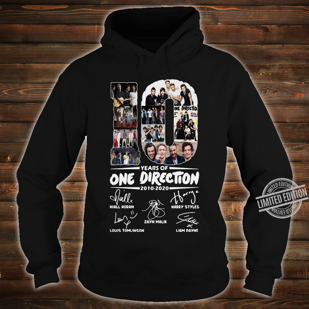 10 Years Of One Direction 2010-2020 Niall Horan Louis Tomlinson Harry Styles Shirt hoodie