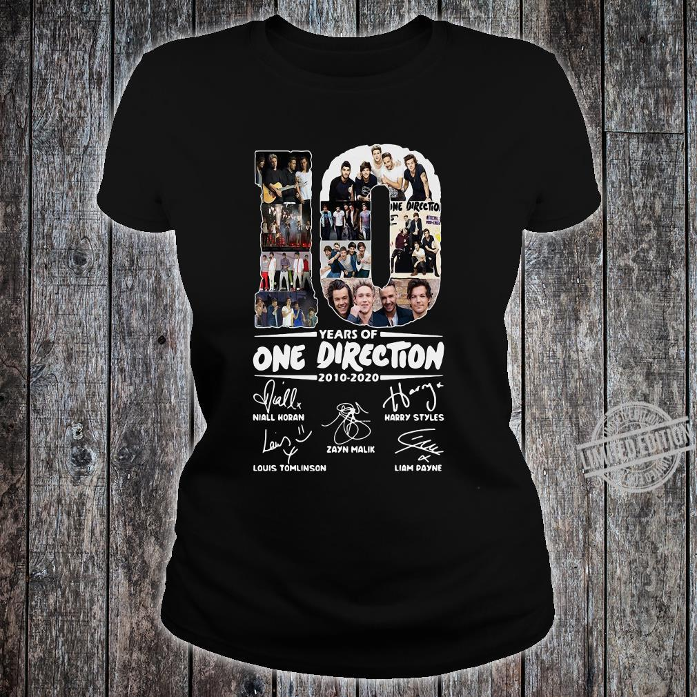 10 Years Of One Direction 2010-2020 Niall Horan Louis Tomlinson Harry Styles Shirt ladies tee