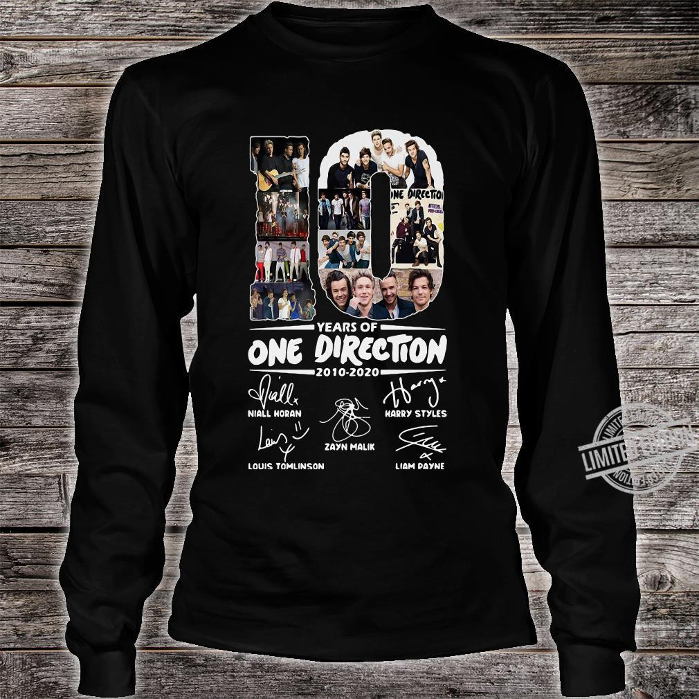 10 Years Of One Direction 2010-2020 Niall Horan Louis Tomlinson Harry Styles Shirt long sleeved