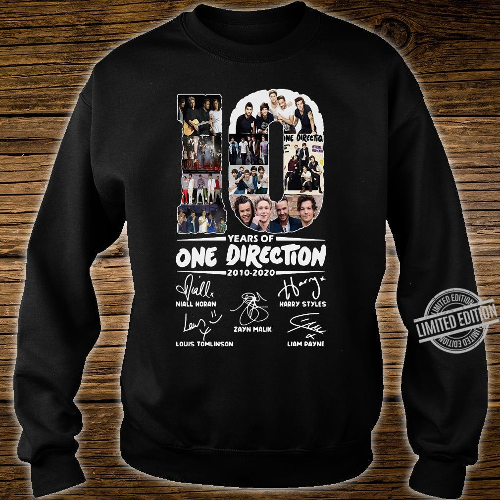 10 Years Of One Direction 2010-2020 Niall Horan Louis Tomlinson Harry Styles Shirt sweater