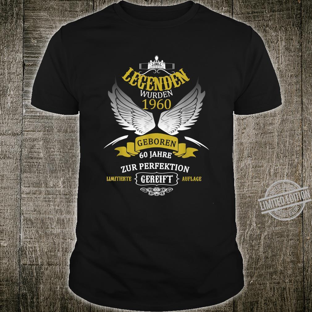 60. Geburtstag Mann Frau 60 Jahre 1960 Spruch Geschenk Shirt