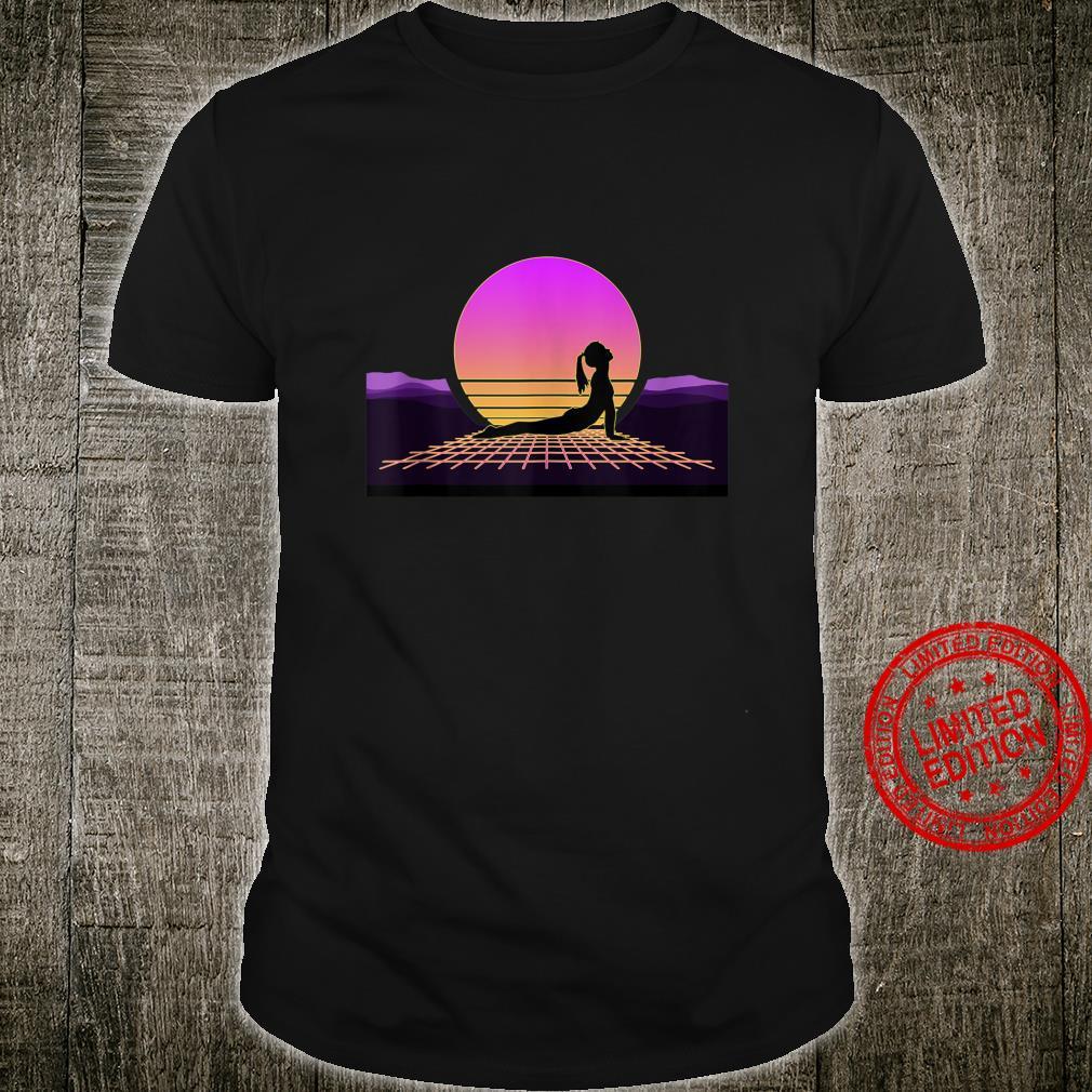 80s Retro Yoga Pose Outrun Vaporwave Synthwave Yogi Shirt