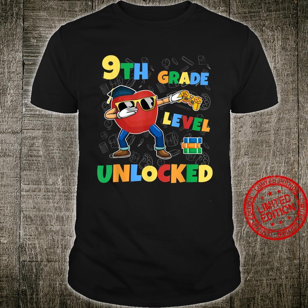 9th Grade Level Unlocked Dabbing Gamer First Day School Shirt