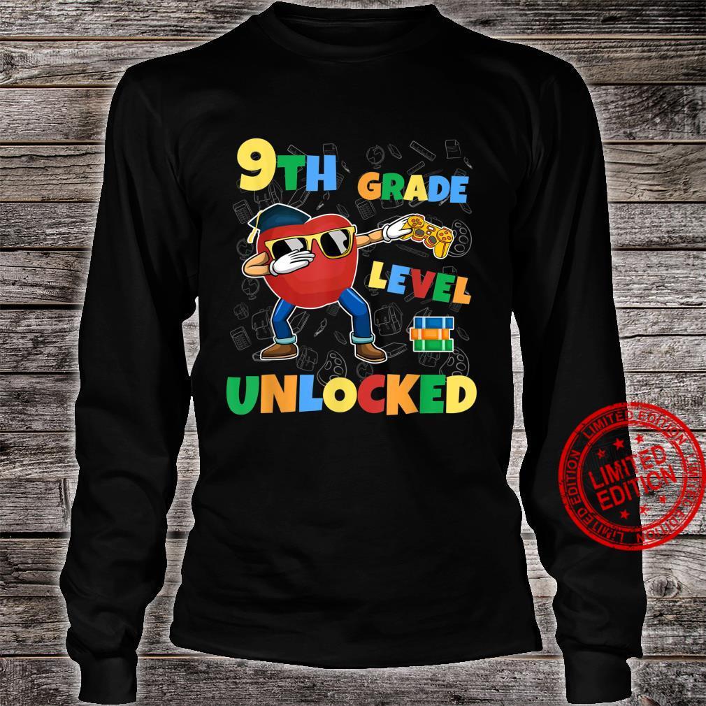 9th Grade Level Unlocked Dabbing Gamer First Day School Shirt long sleeved