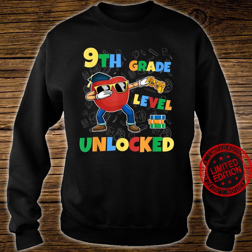 9th Grade Level Unlocked Dabbing Gamer First Day School Shirt sweater