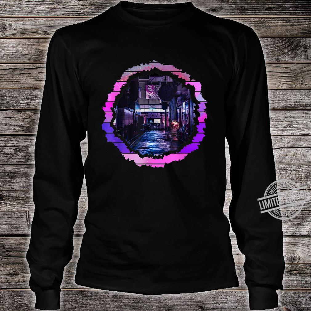 Abstract Lofi City Artwork Shirt long sleeved
