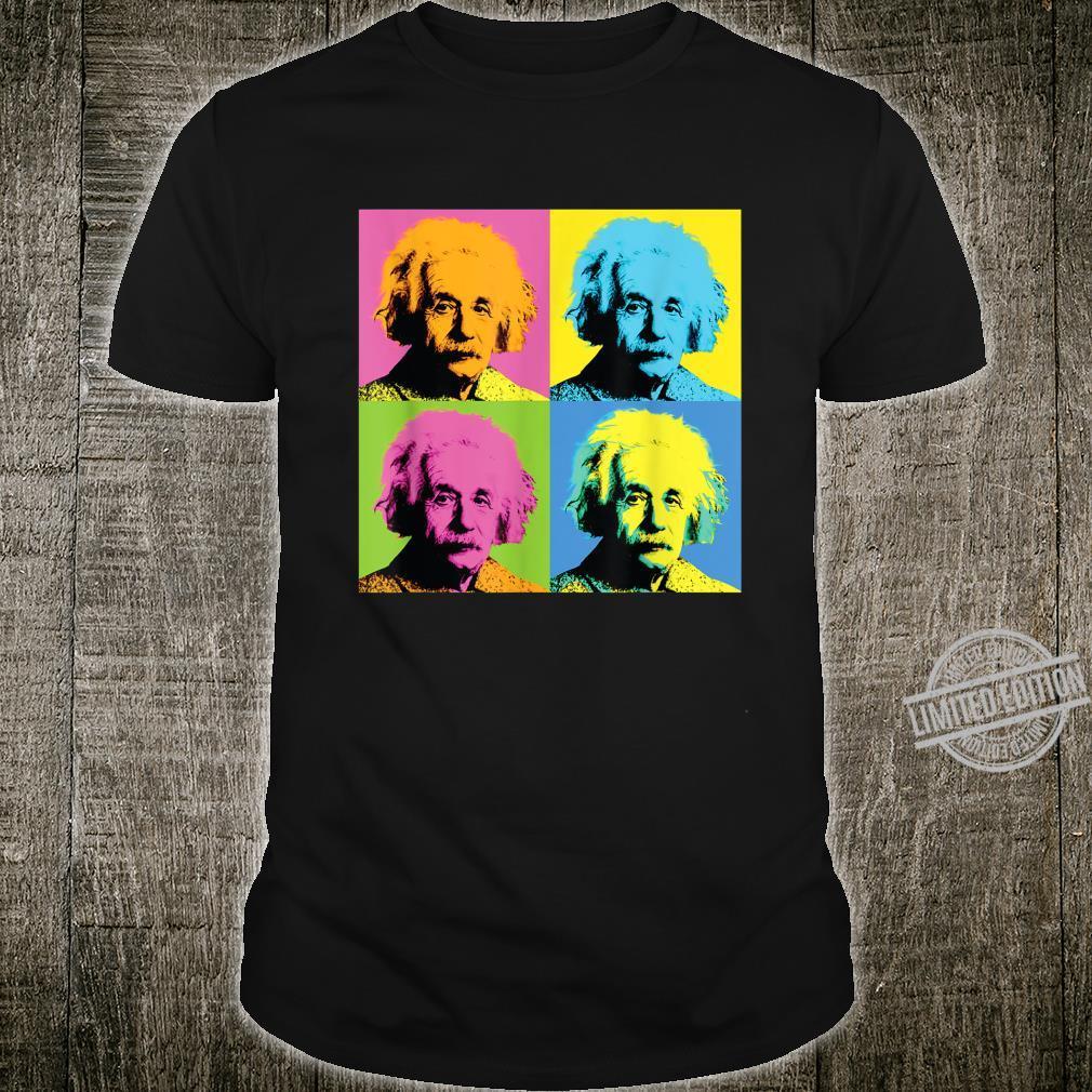 Albert Einstein Colorful Box Design Shirt