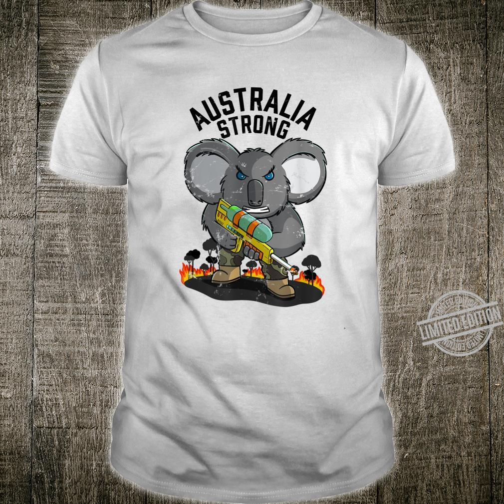 Australia Strong Distressed Fire and Drought Koala Shirt