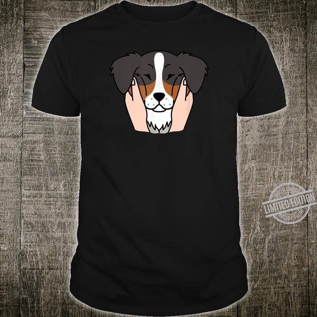 Australian Shepherd Pummelige Wangen Lustiger Hund Shirt