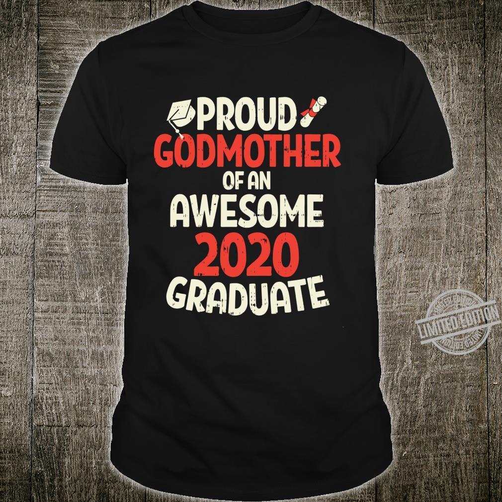 Awesome 2020 Graduate Proud Godmother Family Graduation Langarmshirt Shirt