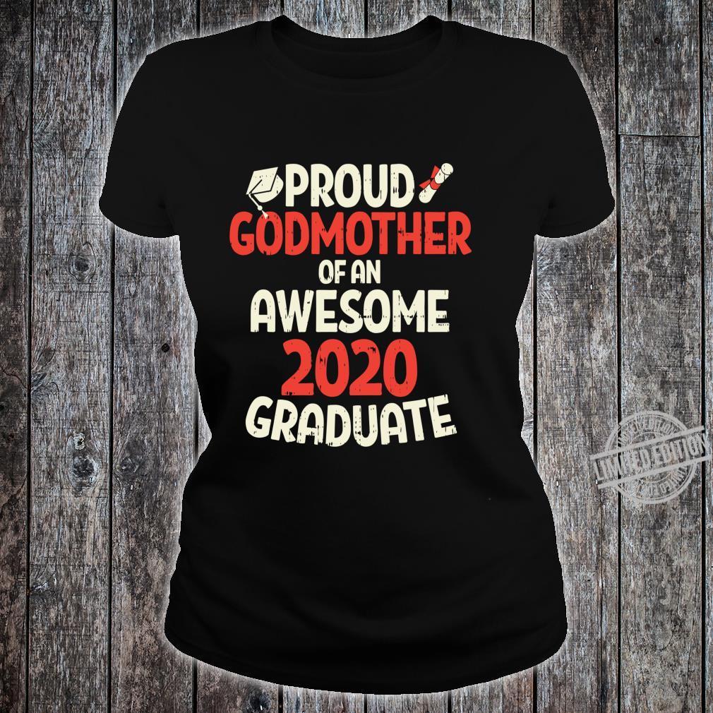 Awesome 2020 Graduate Proud Godmother Family Graduation Langarmshirt Shirt ladies tee