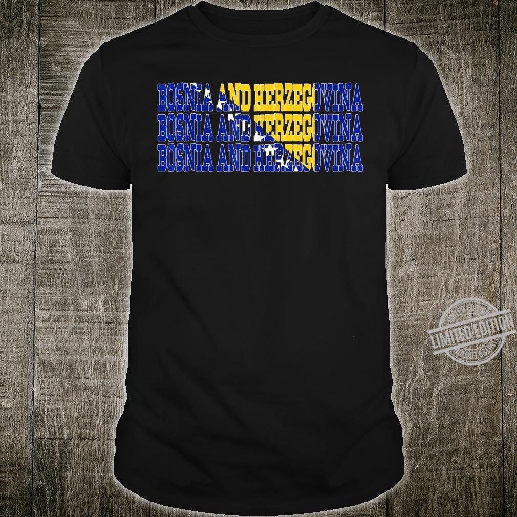 BOSNIA AND HERZEGOVINA Bosnian Flag Sportss Shirt