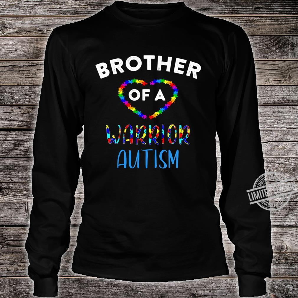 Brother Of A Warrior Family World Autism Awareness Day Shirt Shirt long sleeved