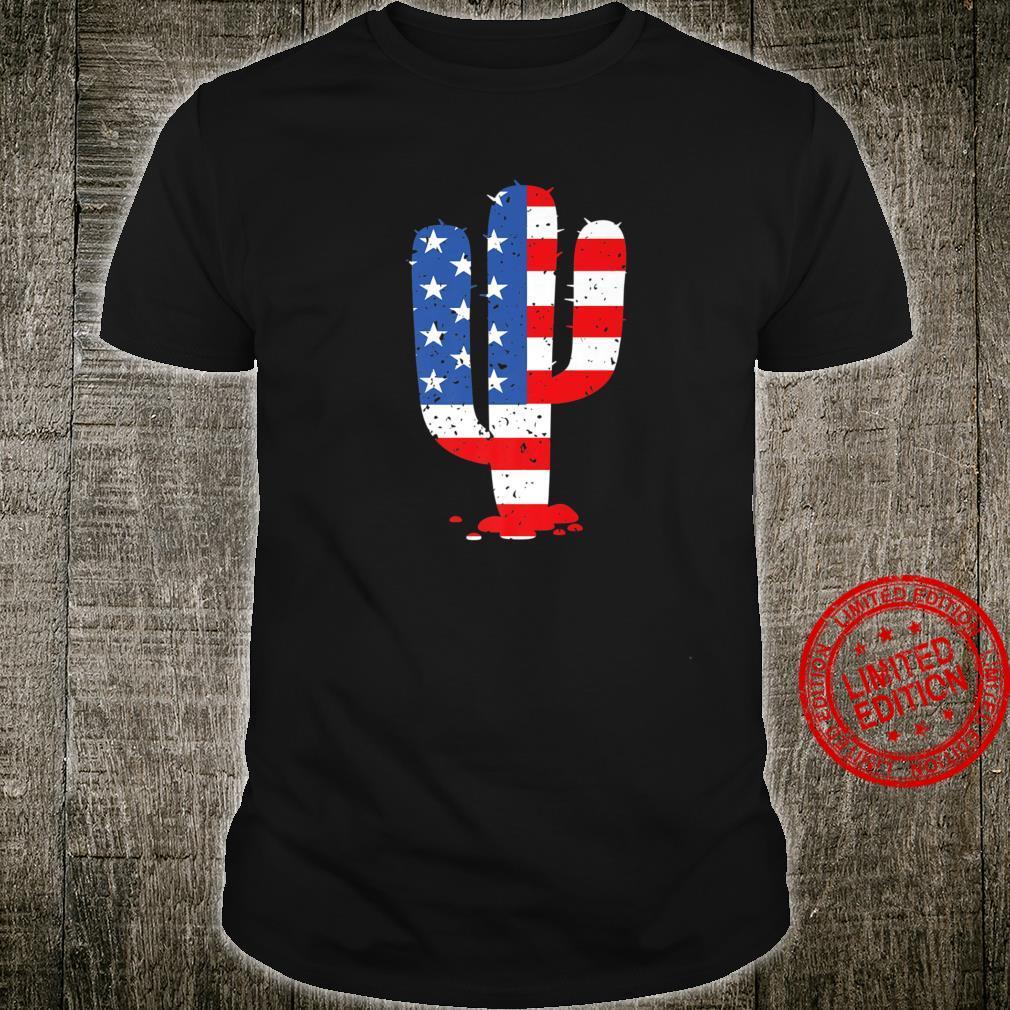 Cactus Desert American Flag 4th Of July Shirt USA Patriotic Shirt