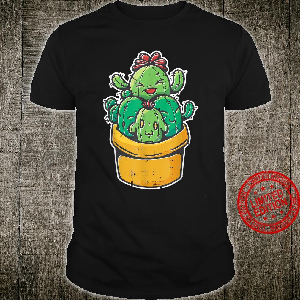 Cactus Family Garden Kawaii Pattern Cute Plant Shirt