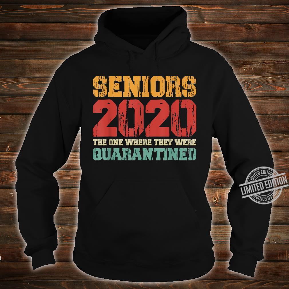 Class Of 2020 Graduation Senior Quarantine Vintage Shirt hoodie