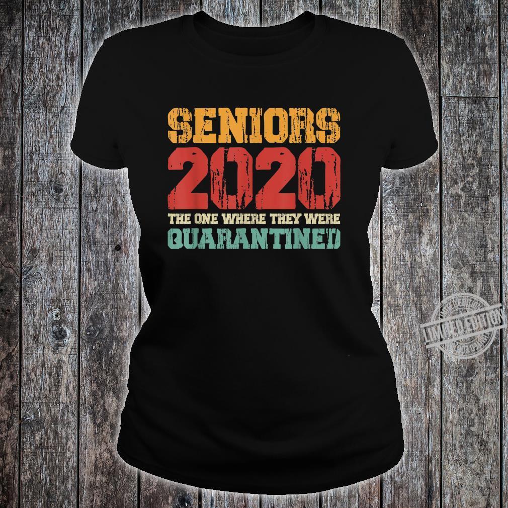 Class Of 2020 Graduation Senior Quarantine Vintage Shirt ladies tee