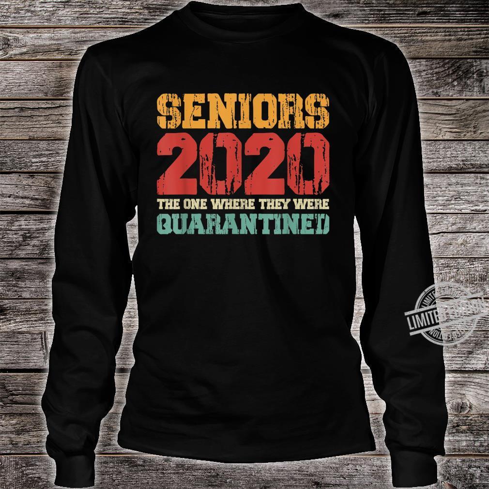 Class Of 2020 Graduation Senior Quarantine Vintage Shirt long sleeved