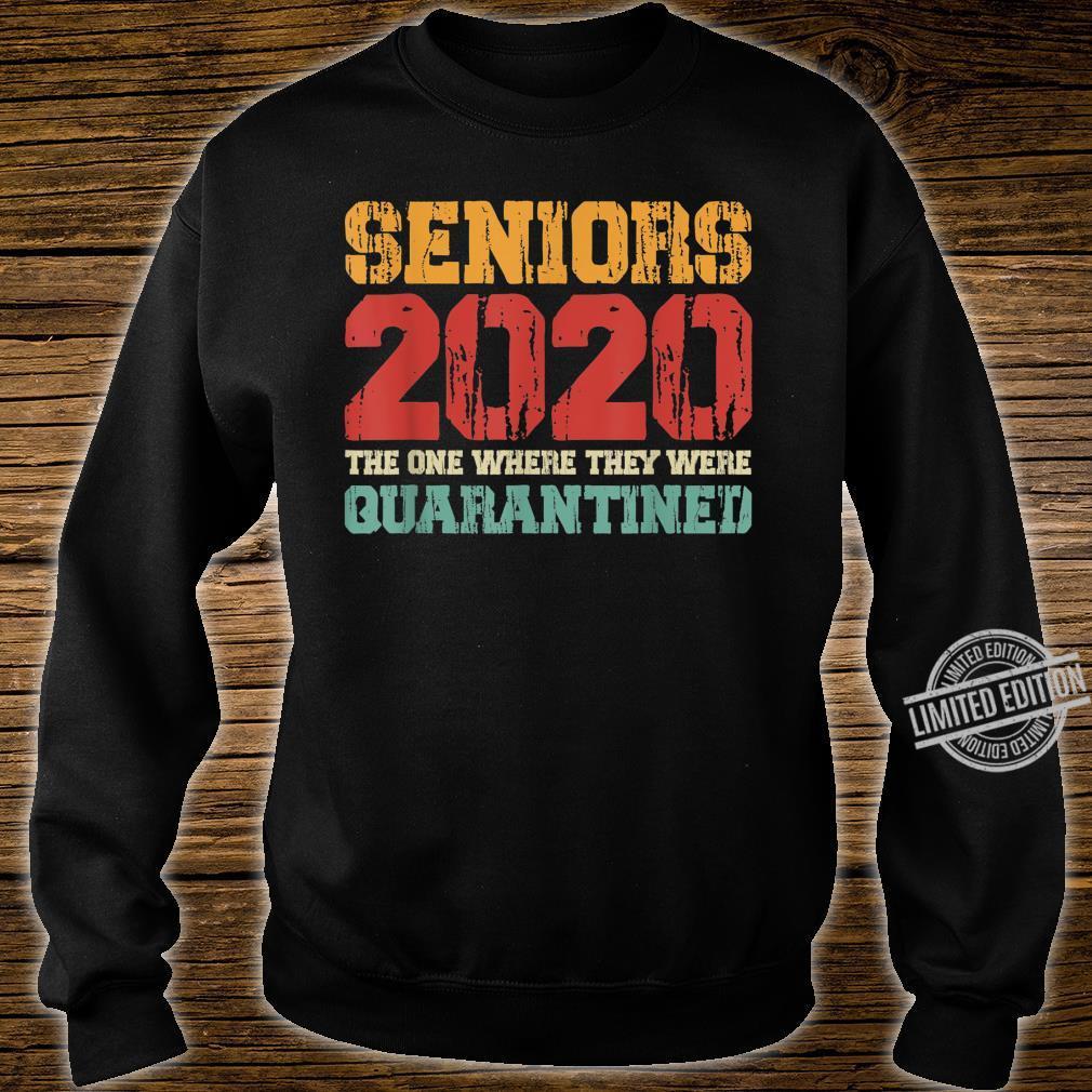 Class Of 2020 Graduation Senior Quarantine Vintage Shirt sweater