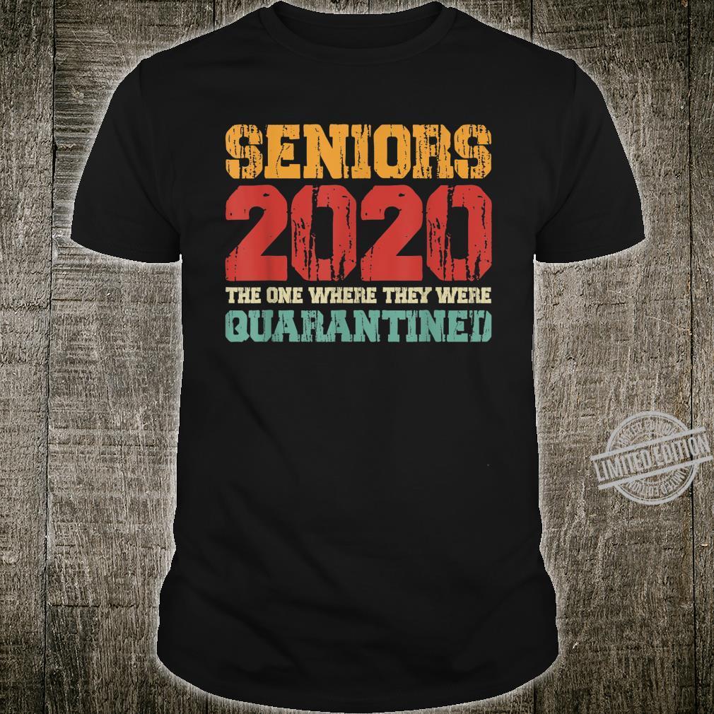 Class Of 2020 Graduation Senior Quarantine Vintage Shirt