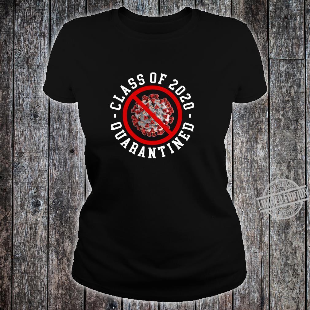 Class Of 2020 Quarantined Survived Flu No Virus Meme Shirt ladies tee