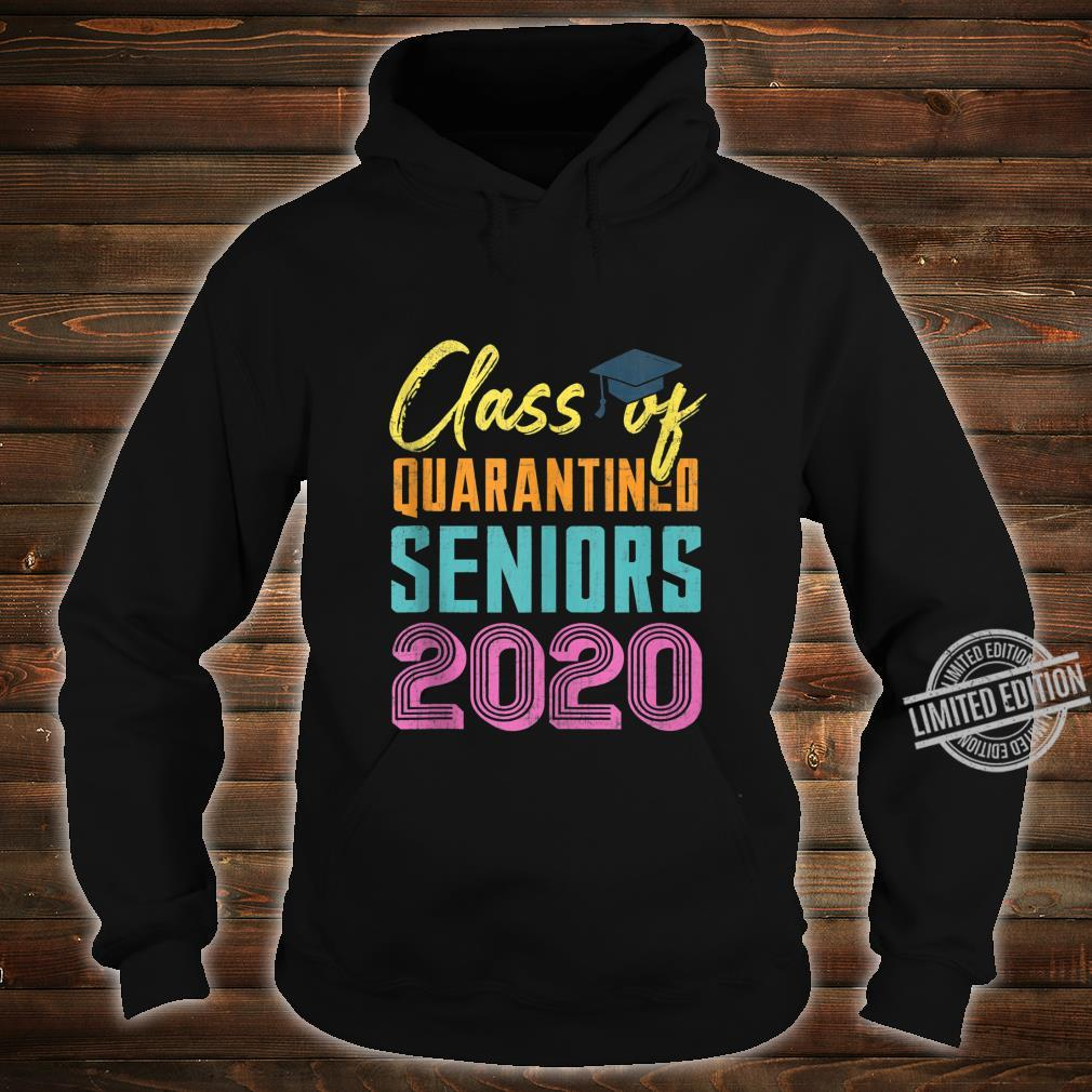 Class of 2020 Quarantined Seniors Flu Virus Quarantine Grad Shirt hoodie
