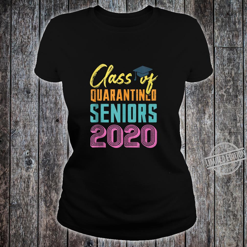 Class of 2020 Quarantined Seniors Flu Virus Quarantine Grad Shirt ladies tee