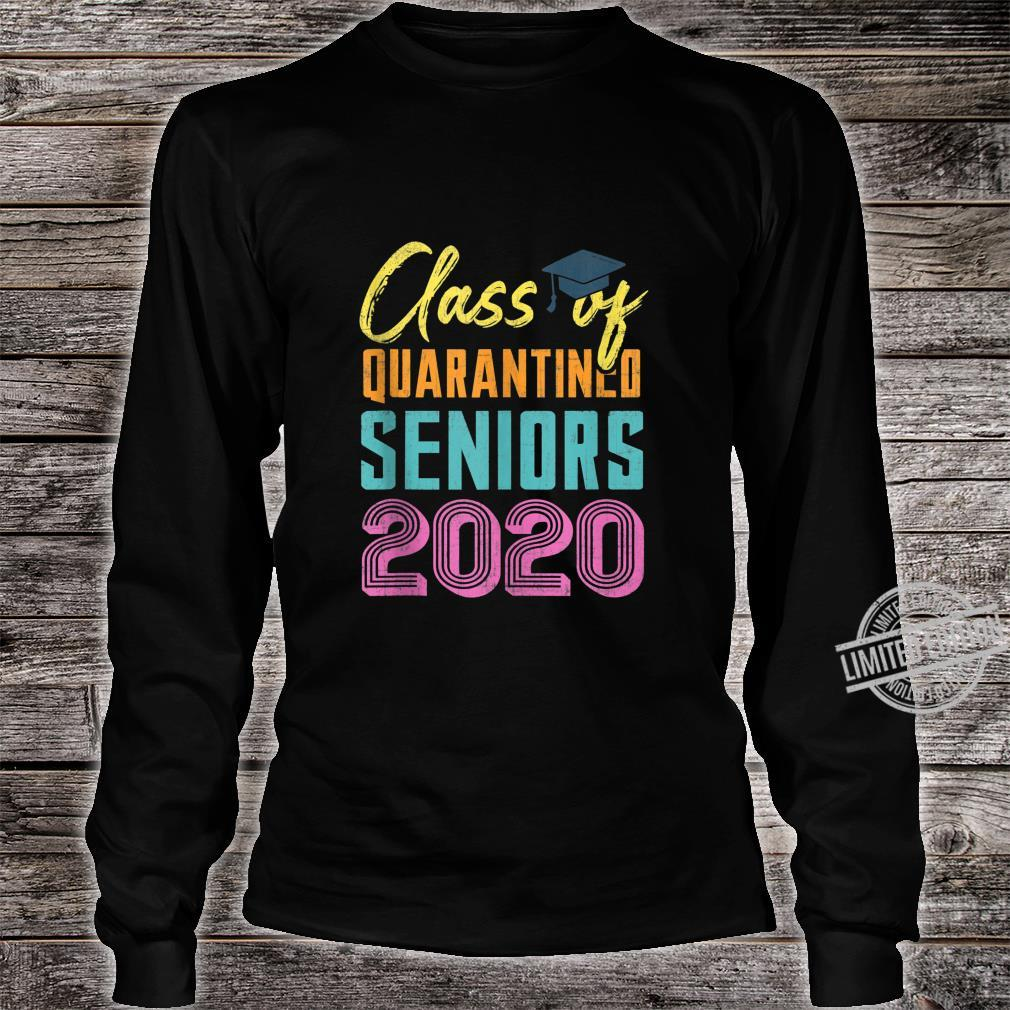 Class of 2020 Quarantined Seniors Flu Virus Quarantine Grad Shirt long sleeved