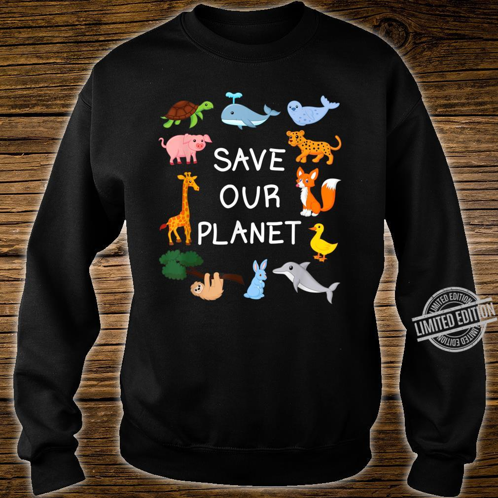 Climate Change with Cute Animals Save Our Planet Shirt sweater