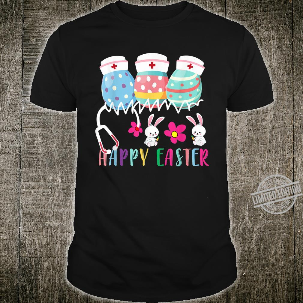 Cute Easter Eggs Nurse Hat Stethoscope Nurse Happy Easter Shirt