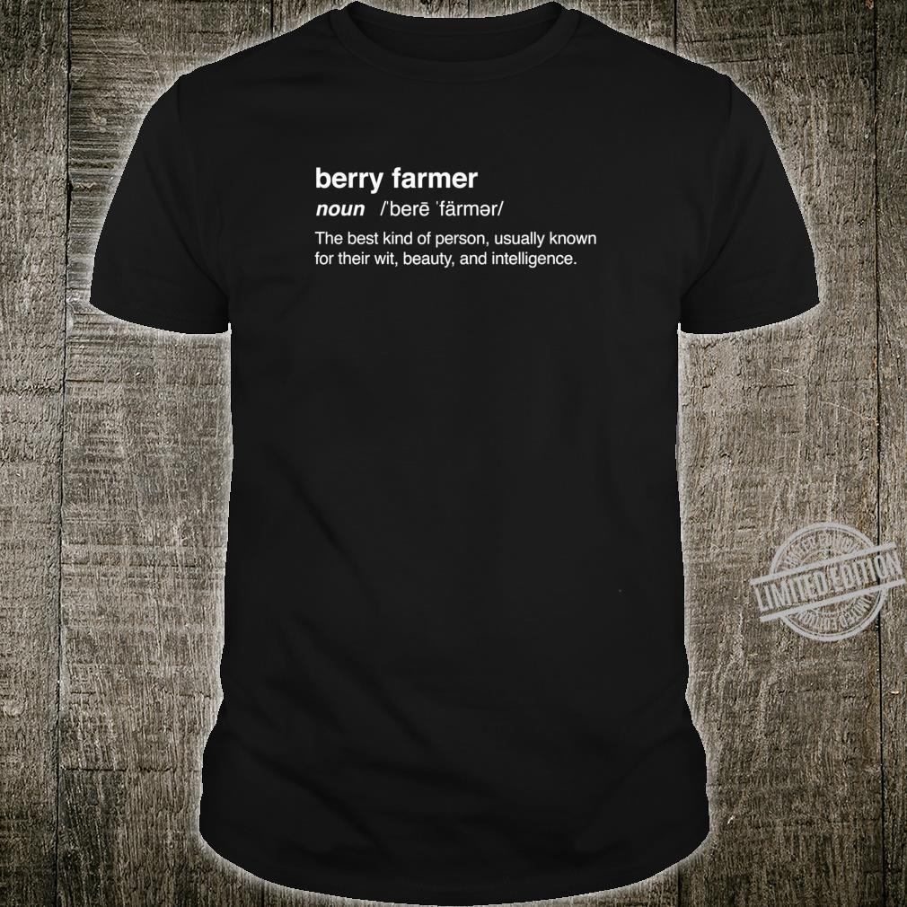 Definition Strawberry Farm Strawberry Farming Shirt