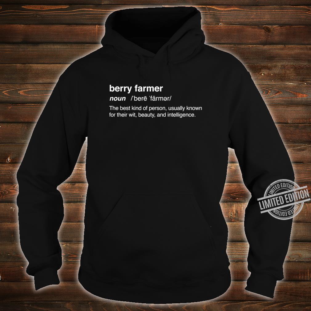 Definition Strawberry Farm Strawberry Farming Shirt hoodie