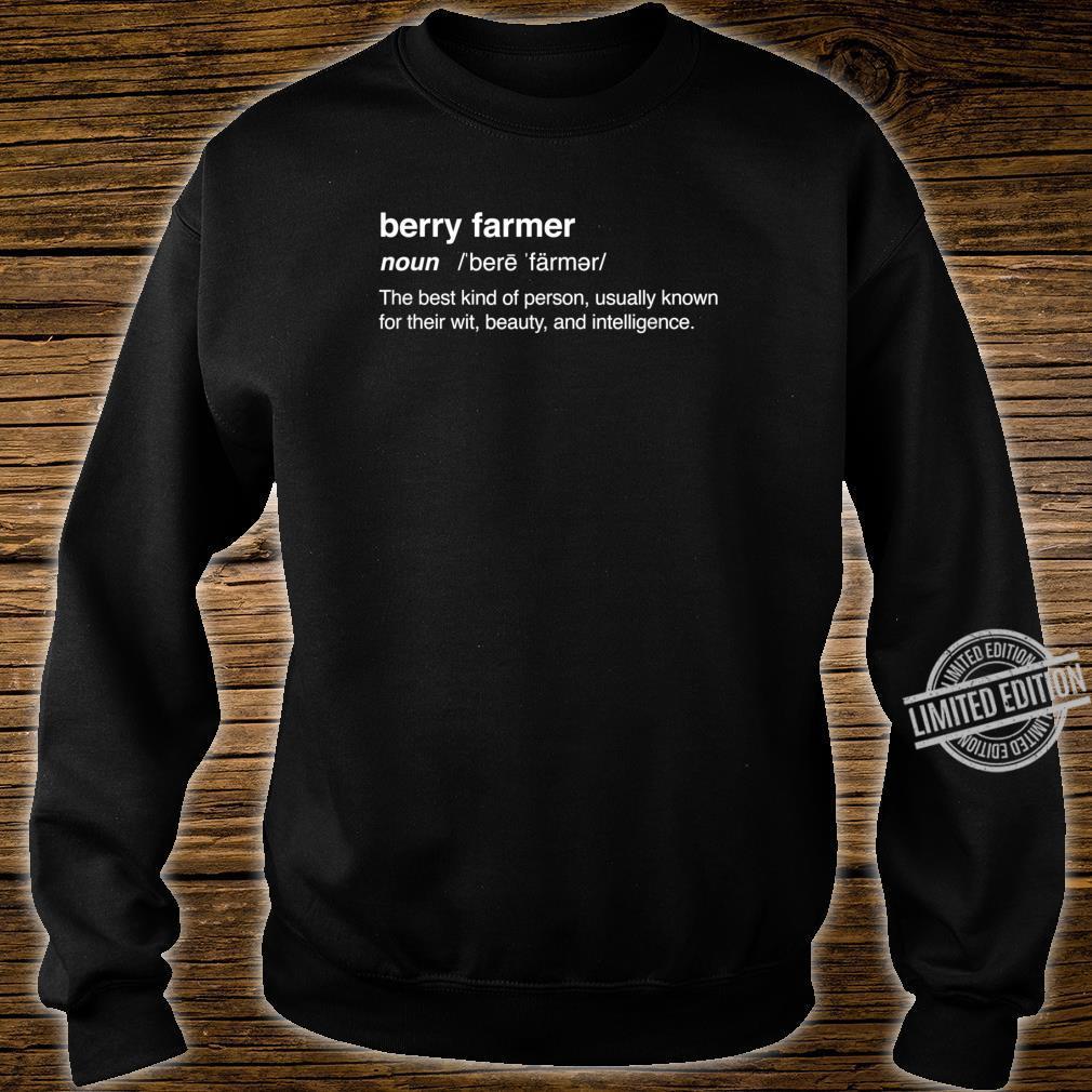 Definition Strawberry Farm Strawberry Farming Shirt sweater