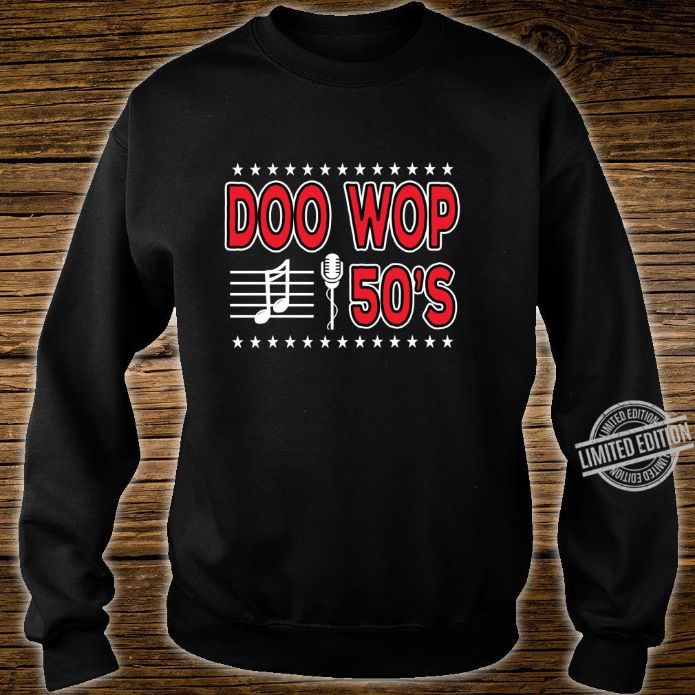 Doo Wop Retro 50s Sock Hop Dance Party Clothes Microphone Shirt sweater