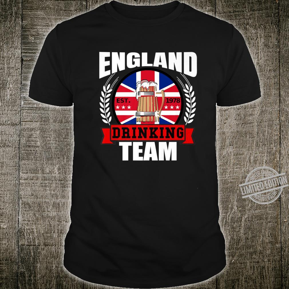 England Drinking Team English UK Flag Beer Party Shirt