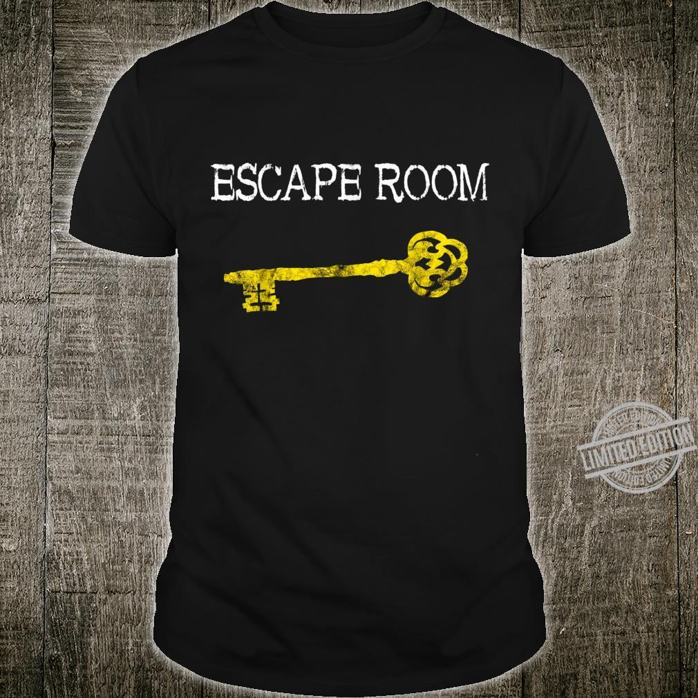 Escape Room Zimmer Schlüssel Exit Room Adventure Games Team Shirt
