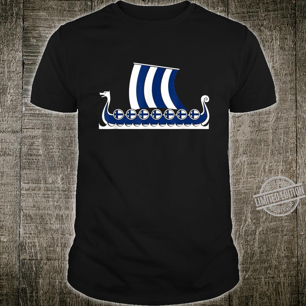 Finnisches Wikingerschiff Finnland Suomi Finland Wikinger Shirt