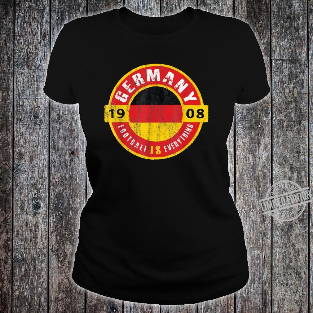 Football Is Everything Germany Flag Europe Vintage Shirt ladies tee