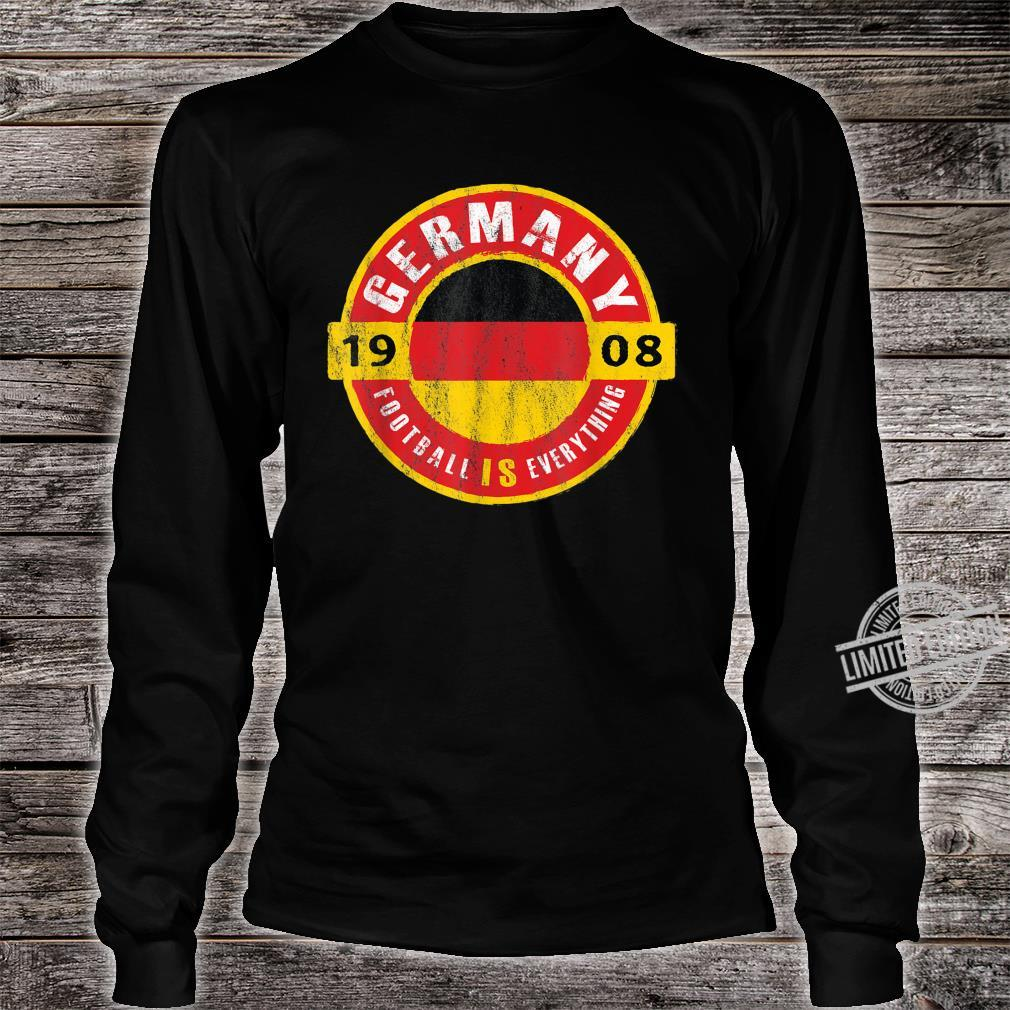 Football Is Everything Germany Flag Europe Vintage Shirt long sleeved