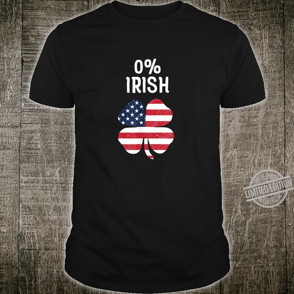 Fun 0 Percent Irish Shamrock Apparel Vintage St Patricks Day Shirt