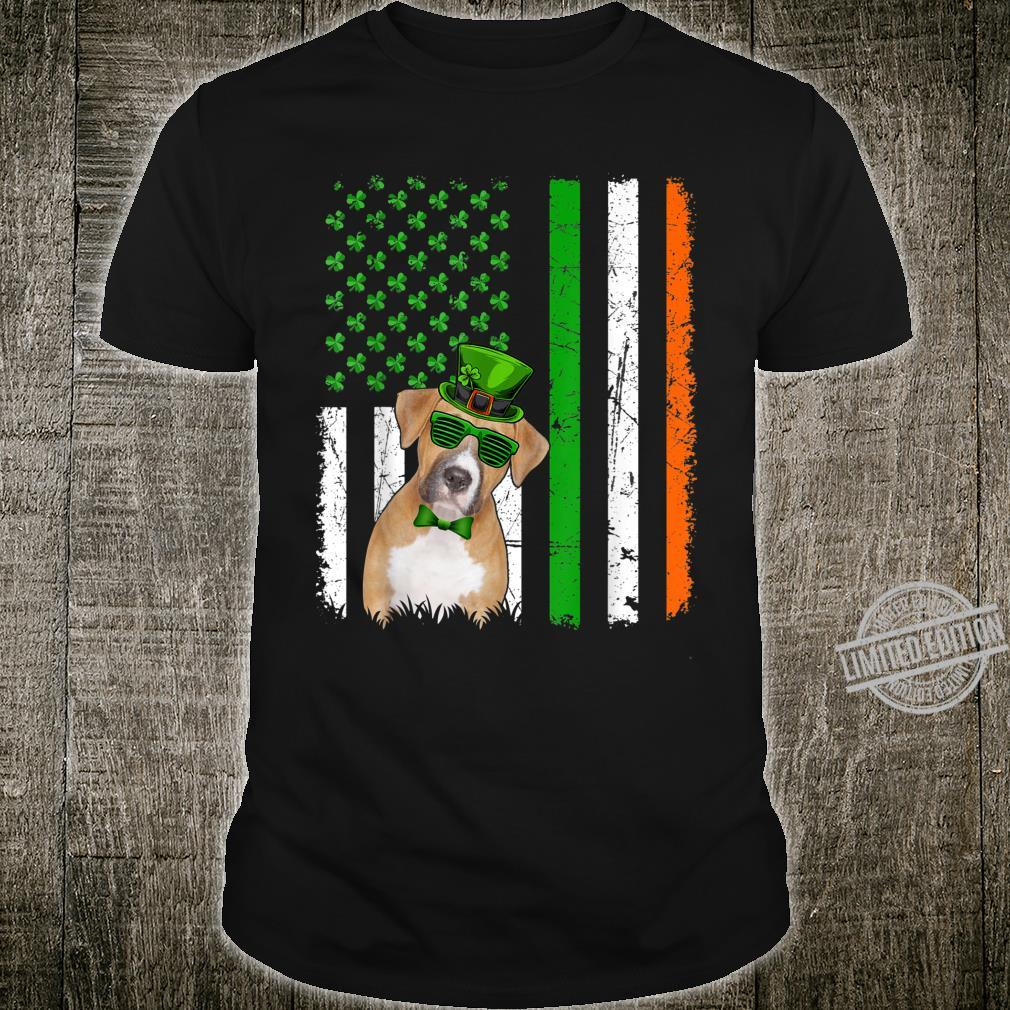 Funny Boxer American FLag Ireland Dog Dad Mom Shirt