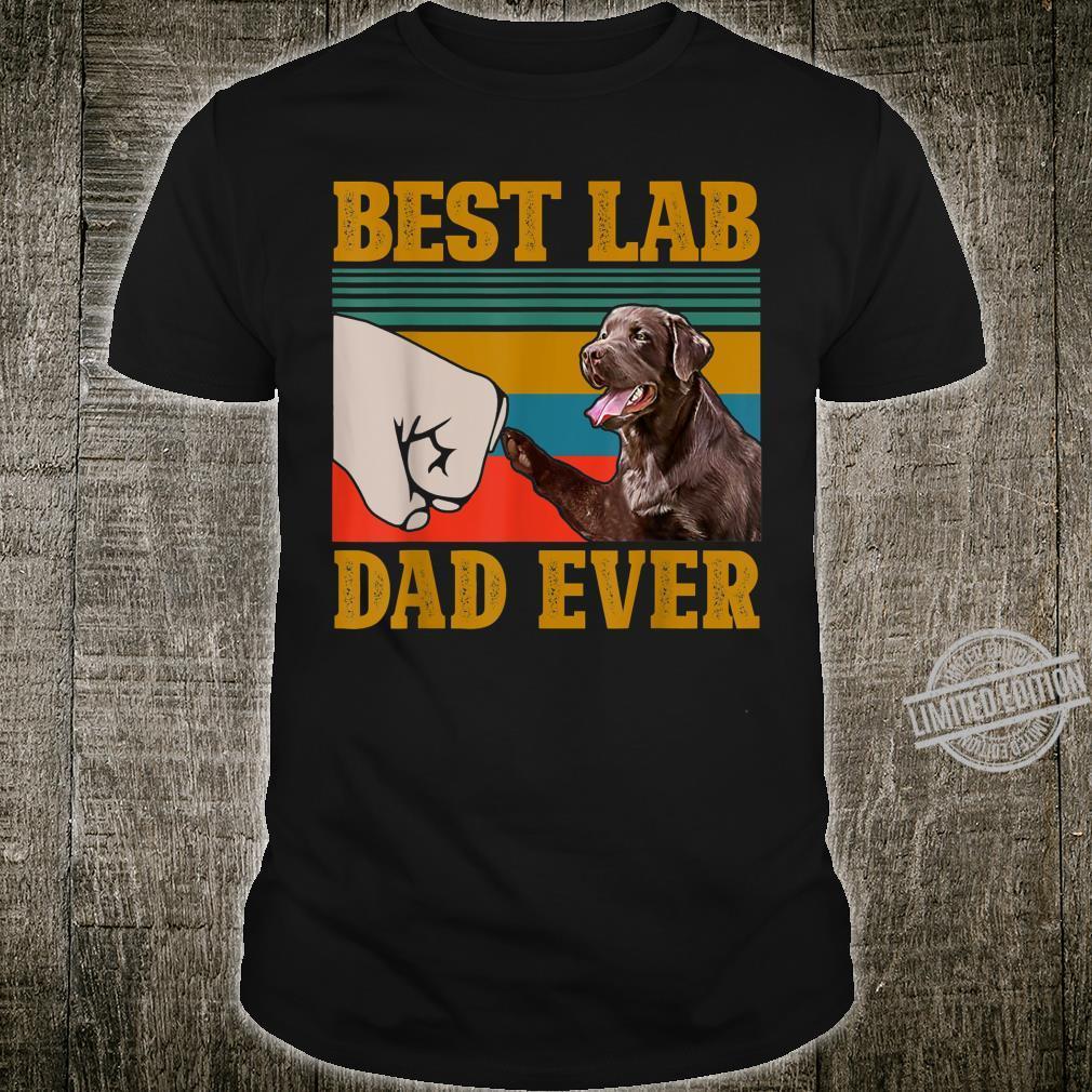 Funny Chocolate Labrador Father Best Lab Dad Ever Shirt
