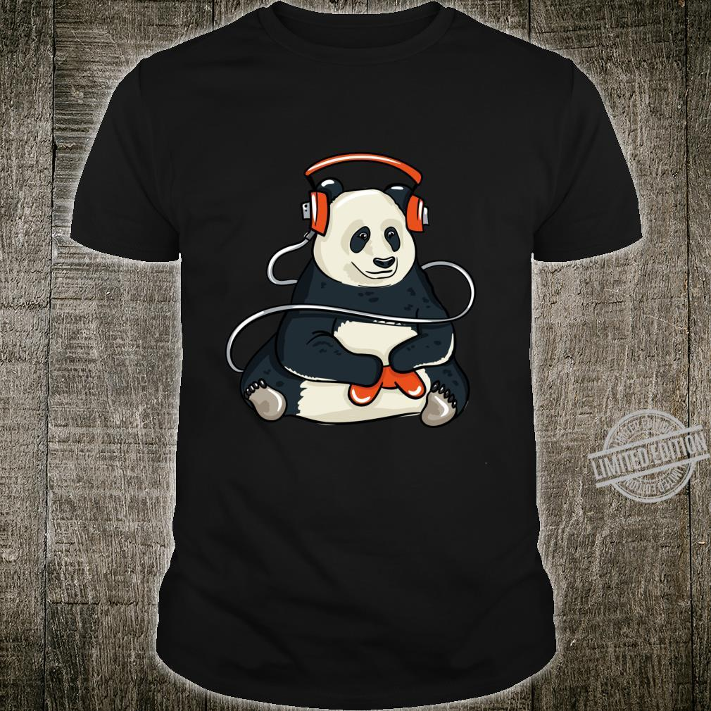 Funny Cool Gaming Panda Gift Video Gamer Shirt