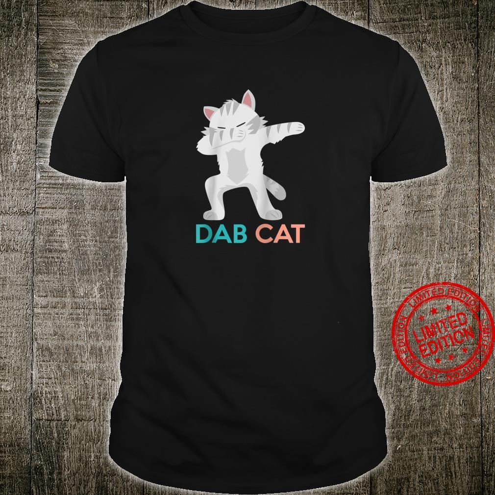 Funny Dab Cat Dancing Kitten Cute Kitty Cartoon Shirt