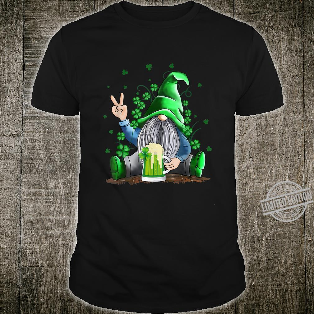 Funny Irish Gnome Drink Beer St Patricks Day Shirt