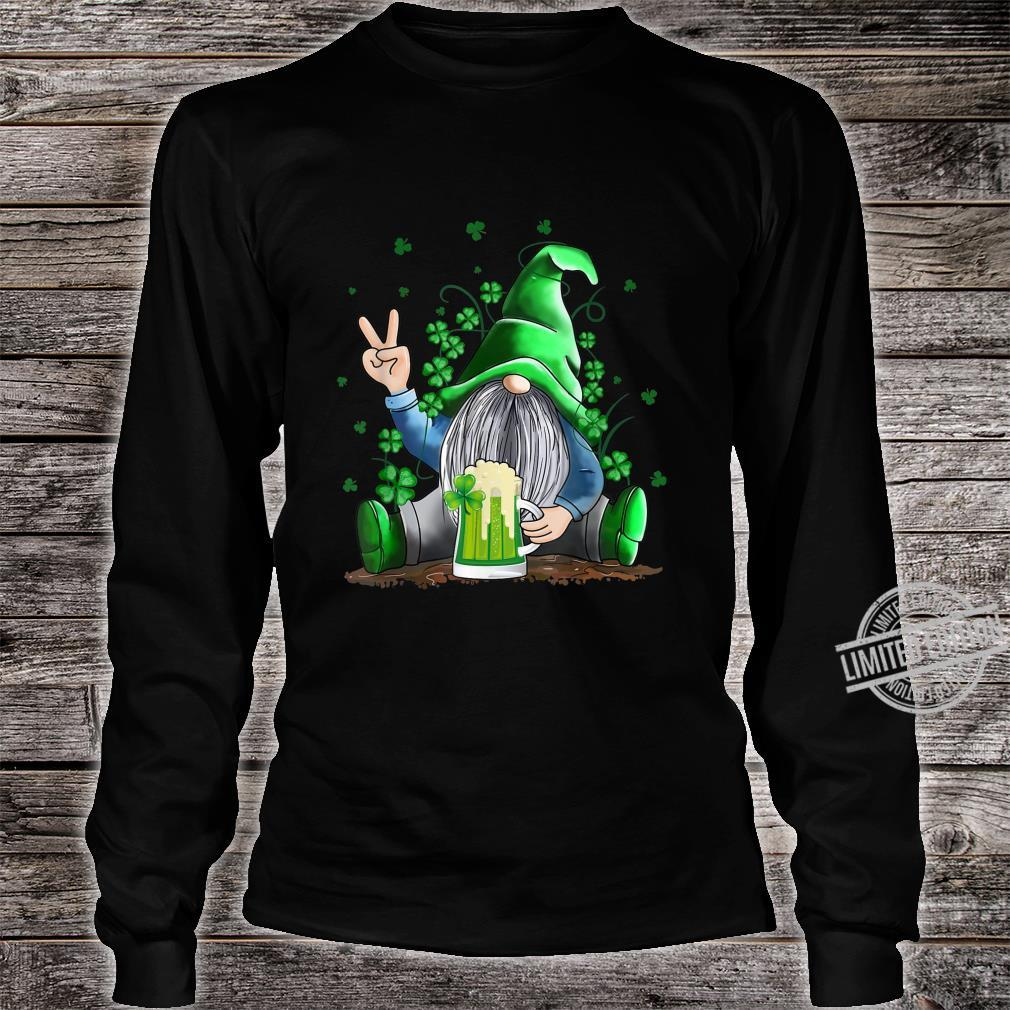 Funny Irish Gnome Drink Beer St Patricks Day Shirt long sleeved