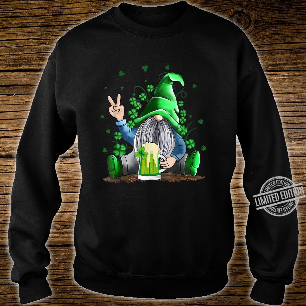 Funny Irish Gnome Drink Beer St Patricks Day Shirt sweater