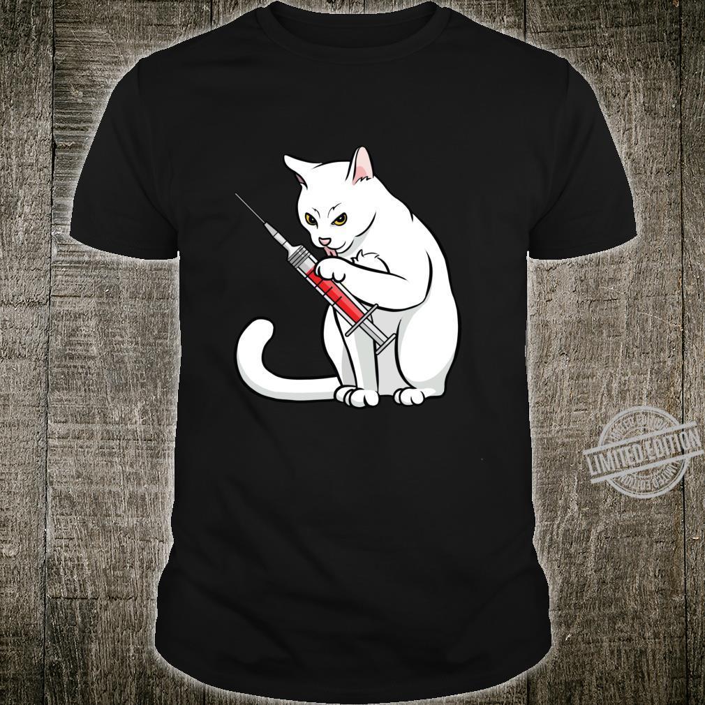 Funny Nurse Cat Shirt Cat Mom Cat Nurse Langarmshirt Shirt