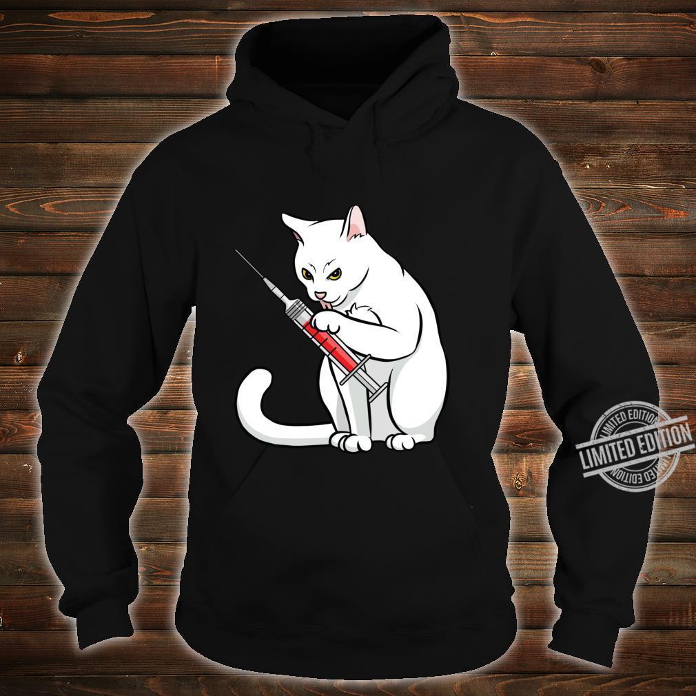 Funny Nurse Cat Shirt Cat Mom Cat Nurse Langarmshirt Shirt hoodie